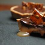 Chocolate salted caramel tarts , la scoperta del caramello salato