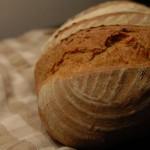 Pane di farine antiche e pasta madre .