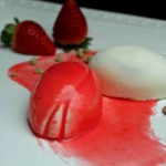 Tulipani allo yogurt con cuore di fragola