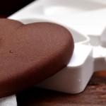 Un cuore gelato alla menta e cioccolato