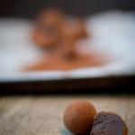 Tartufi al cioccolato, Cointreau e arancia candita