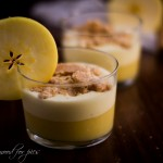 Bicchierini di mousse di mele e crema pasticcera gluten free