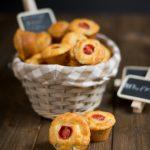 Mini muffin salati feta e prosciutto