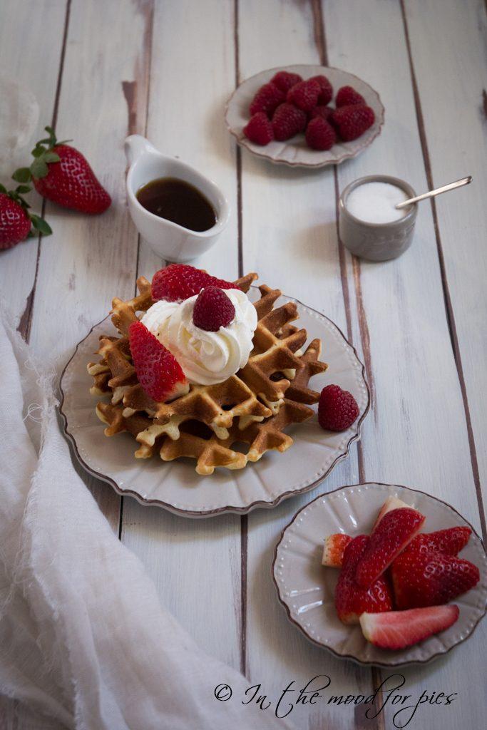 waffle con panna