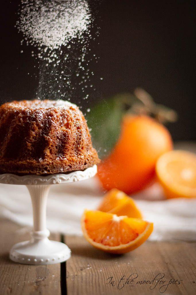 Zucchero a velo su pan d'arancia